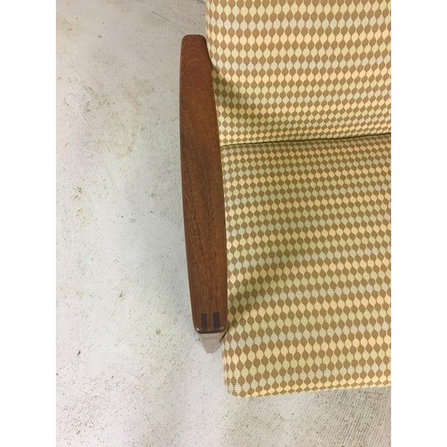 Ulferts Upholstered Lounge Chair With Teak Frame For Sale - Image 4 of 7