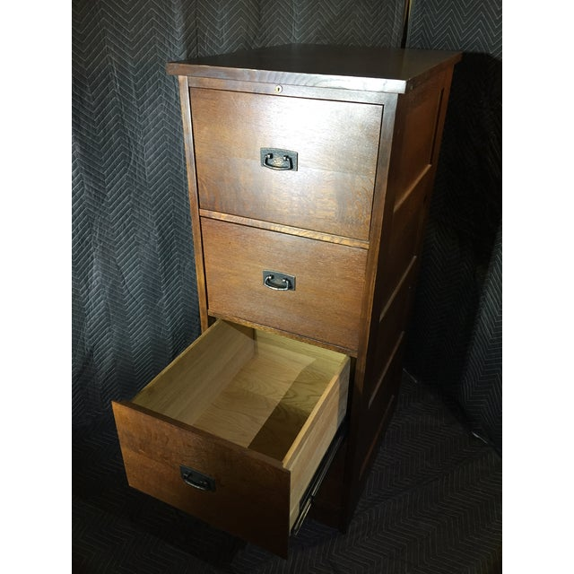L. & J.G. Stickley, Inc. Stickley Mission Collection Oak Four Drawer File Unit For Sale - Image 4 of 7