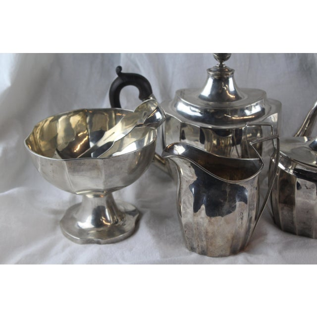 Metal Late 1700s Federal Tea Set of 5 For Sale - Image 7 of 10
