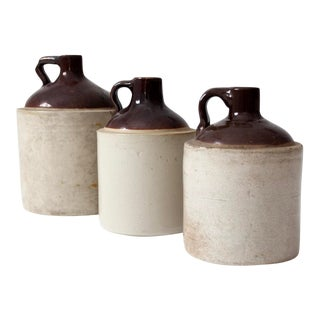 Antique Stoneware Jug Collection of 3