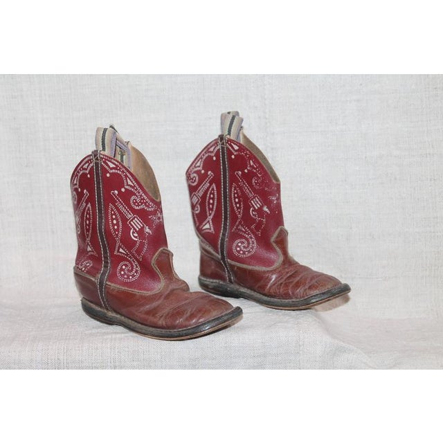 Collection of 1930s Children's Cowboy Boots - Image 4 of 10