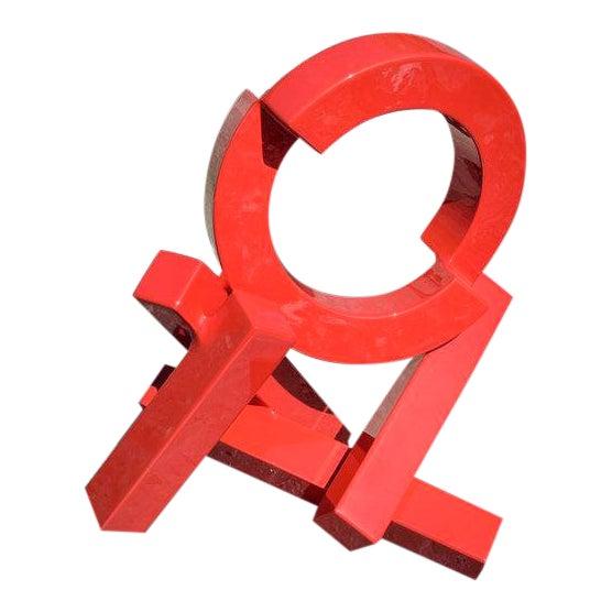 Rob Lorenson, Red Quadrilateral Sculpture, 2017 For Sale