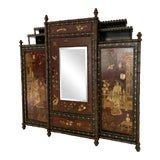 Image of Late 19th Century English Chinoiserie Mirrored Cabinet For Sale