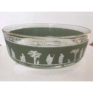 Vintage Mid-Century Jeannette Glass Neo Classical Hellenic Serving Bowl Preview