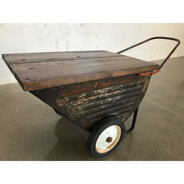 Vintage Industrial Cart Table or Beverage Cart - Image 4 of 10