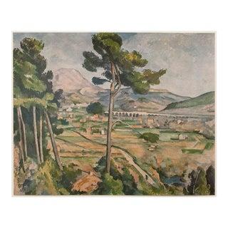 "1950s Cezanne, ""Mont Sainte-Victoire"" First Edition Lithograph For Sale"