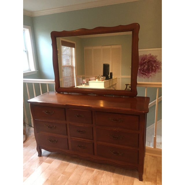 Vintage French Provincial Dresser with Mirror - Image 2 of 11