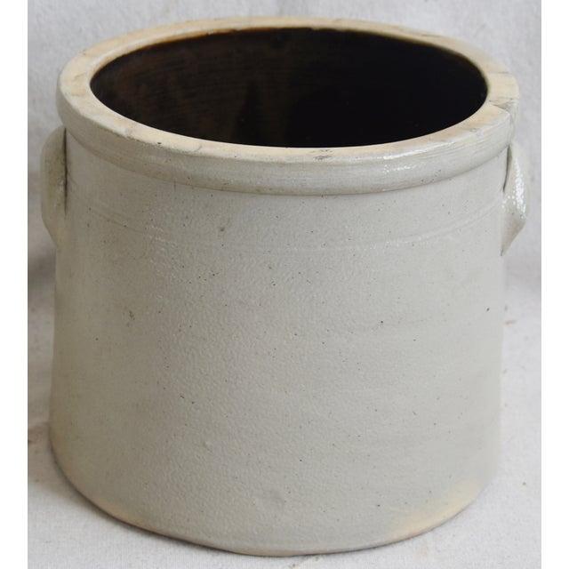 Cream Antique Italian Glazed Stoneware Crock For Sale - Image 8 of 8