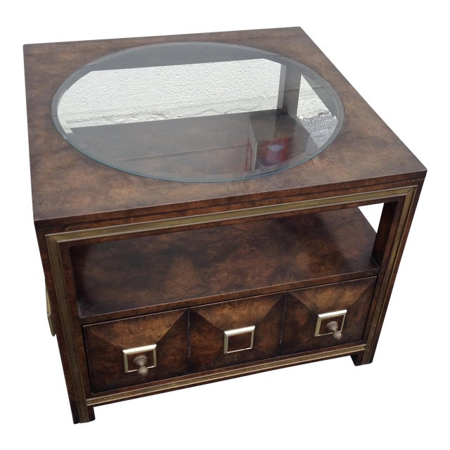 Burl Coffee Table Mid Century: Master Craft Mid Century Modern Maid Burl Coffee Table