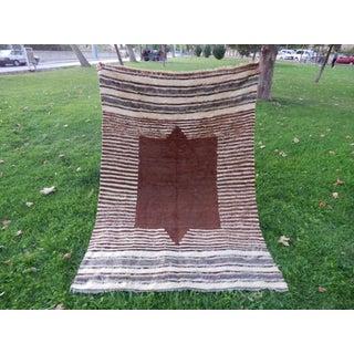 Bohemian Brown Blanket Rug - 4′1″ × 5′9″ Preview