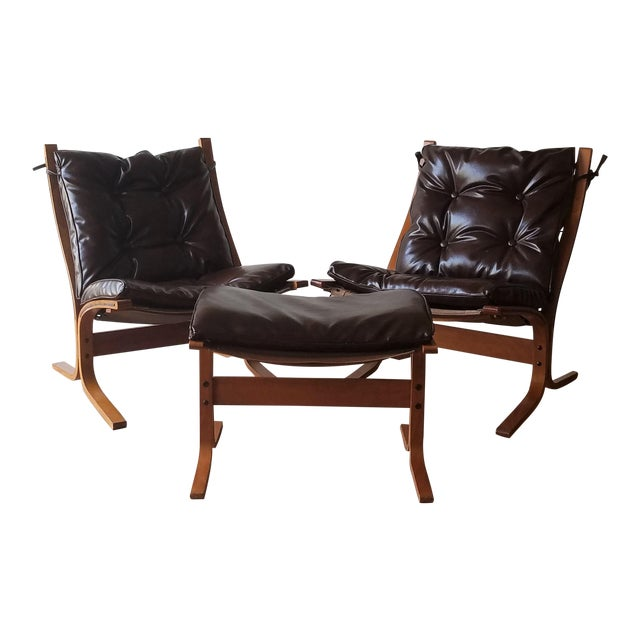 1970s Vintage Ingmar Relling Siesta Chairs for Westnofa - 3 Pieces For Sale