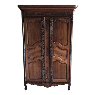18th Century Louis XV Cherrywood French Armoire For Sale