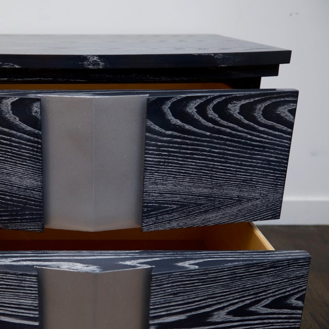 Pair of Cerused End Tables/Night Tables For Sale - Image 9 of 11