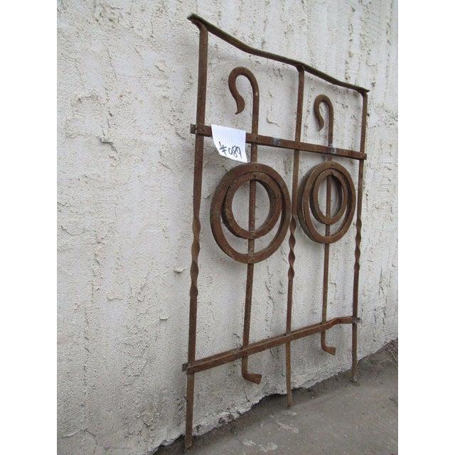 Antique Victorian Iron Gate Window Garden Fence Architectural Salvage Door #089 For Sale In Philadelphia - Image 6 of 7
