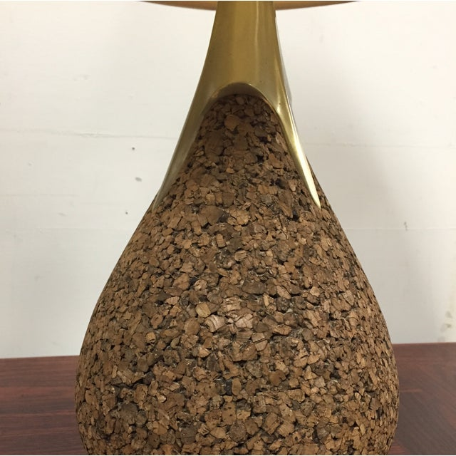 Cork & Brass Tear Drop Table Lamp - Image 4 of 7