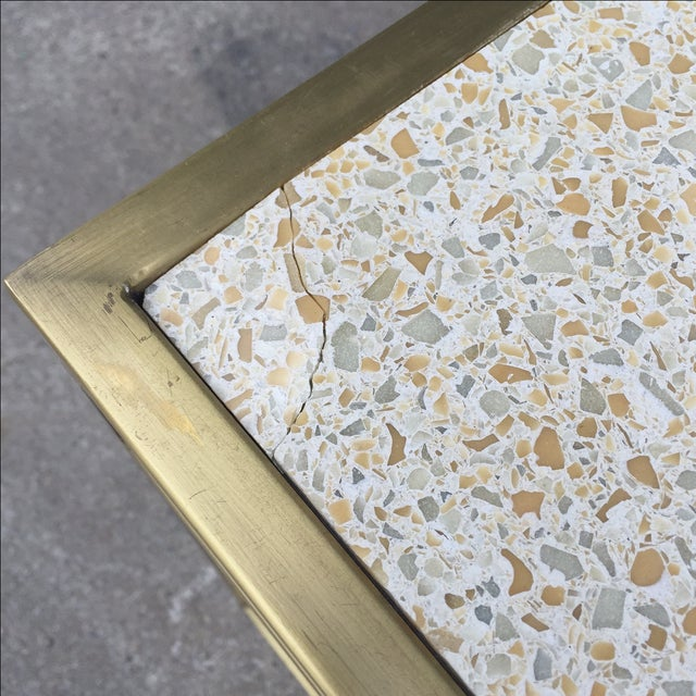 Paul Laszlo Custom Brass and Terrazzo Table For Sale - Image 7 of 8