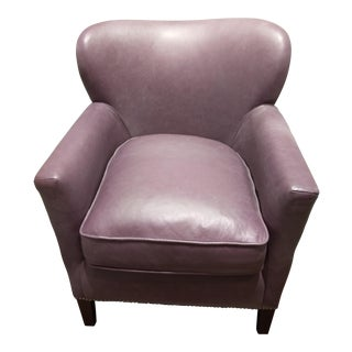 Whimsical Charm in Your Home or Office: Early 21st Century Vintage Prada Lilac Leather Accent Armchair For Sale