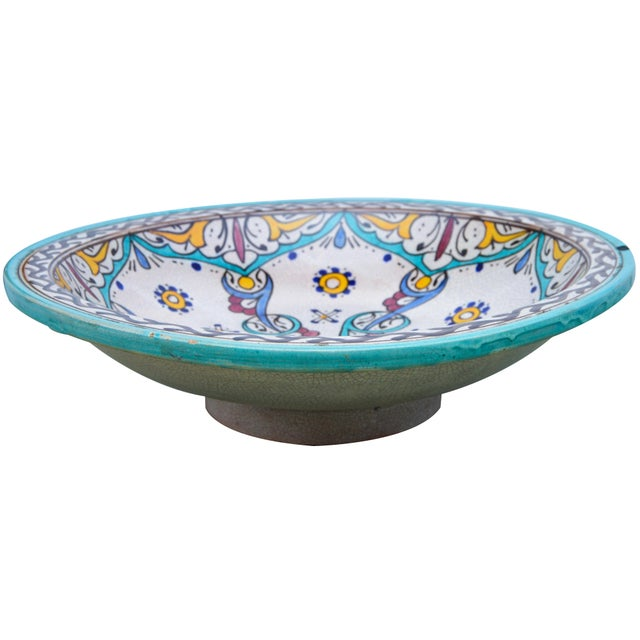 Early 20th Century Antique Ceramic Bowl W/ Andalusian Motif For Sale - Image 5 of 9