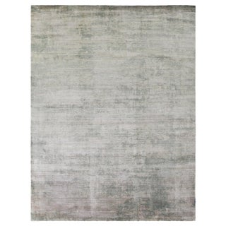 Yorkshire Beige Hand loom Bamboo/Silk Area Rug - 10'x14' For Sale