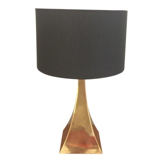 Mid-Century Modern Brass Table Lamp For Sale