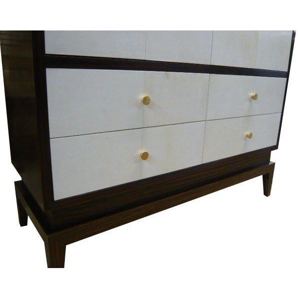 Modern Italian Clarke Parchment Armoire For Sale - Image 3 of 5