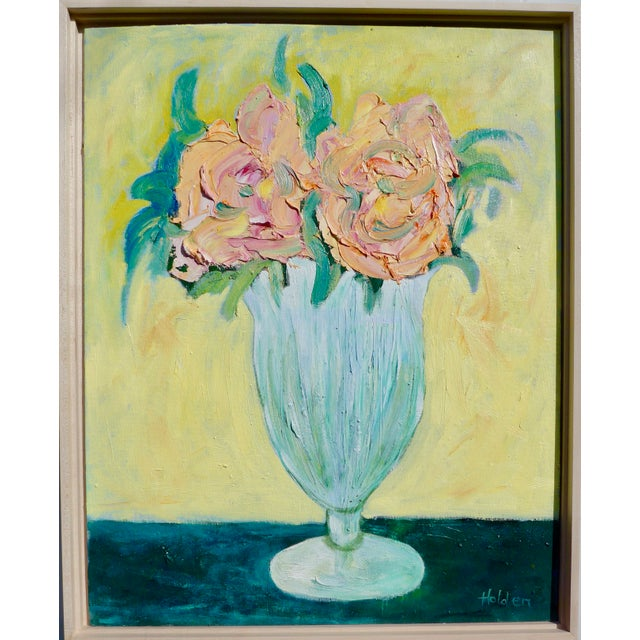 French Pink Roses Still Life For Sale - Image 9 of 9
