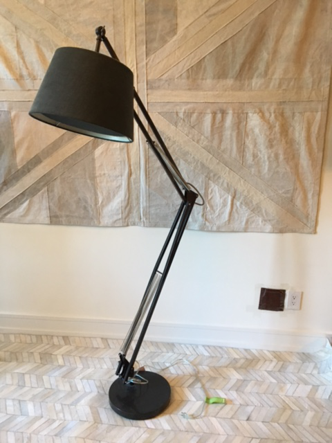 High Quality Cb2 Oversized Alpha Carbon Floor Lamp   Image 3 Of 6