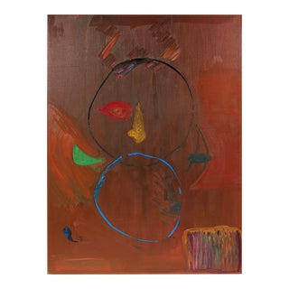 Large Abstract Expressionist Oil Painting in, San Francisco Artist, 1971 For Sale