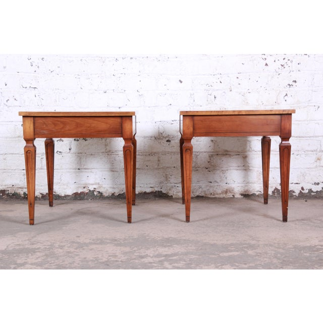 Baker Furniture Milling Road French Regency End Tables, Pair For Sale - Image 10 of 12