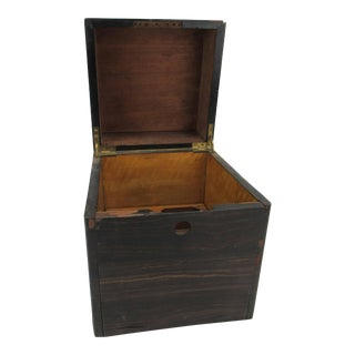 Antique Late 19th Century Mahogany & Maple Decanter Box For Sale