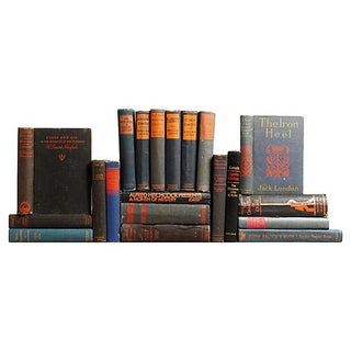 Distressed Navy & Black Classic Books - Set of 20