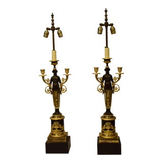 Pair Empire candelabra