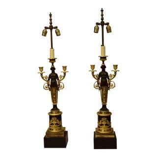 Pair Empire candelabra