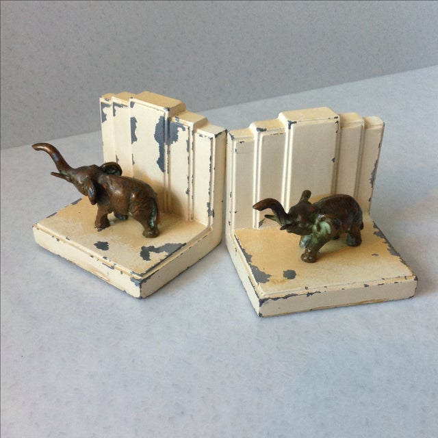 Art Deco Elephant Bookends - A Pair - Image 5 of 11