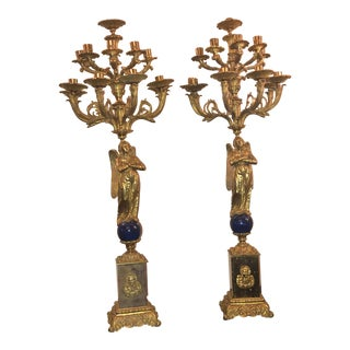 Antique Italian Ormolu Candelabras - a Pair For Sale