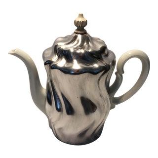 1940s Krautheim Porcelain Tea Pot & Silverplated Tea Cozy For Sale