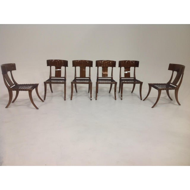 Mid-Century Klismos Style Dining Chairs - Set of 6 For Sale In San Diego - Image 6 of 7