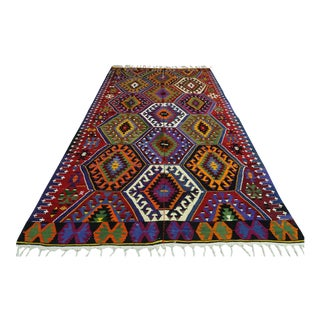 Early 20th Century Turkish Kilim Rug- 2′7″ × 10′ For Sale