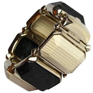 Goossens Paris Wood and Marble Bracelet For Sale