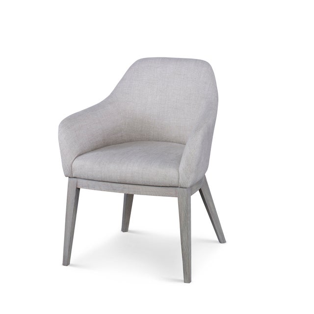 Contemporary Century Furniture Copeland Dining Arm Chair For Sale - Image 3 of 3