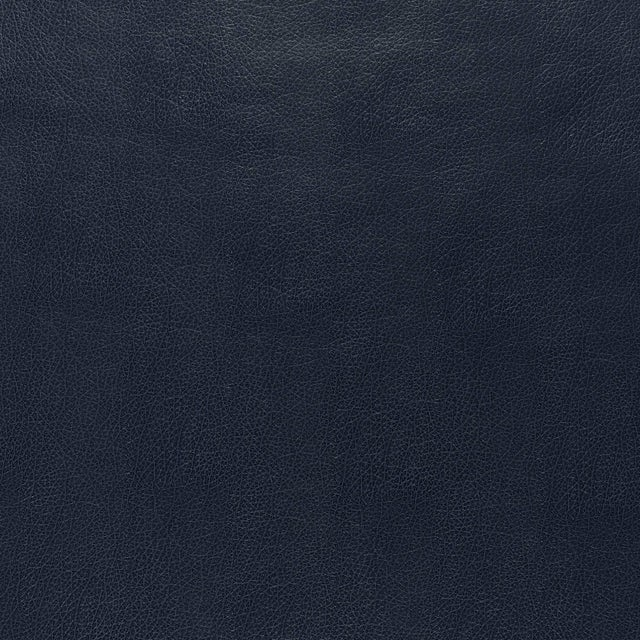 Sample - Schumacher Canyon Leather Wallpaper in Navy For Sale