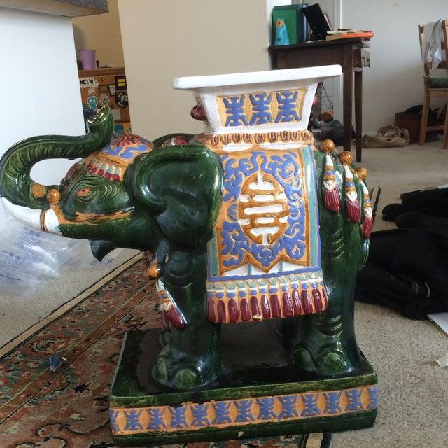 Islamic Ceramic Decorative Elephant Statue For Sale - Image 3 of 8