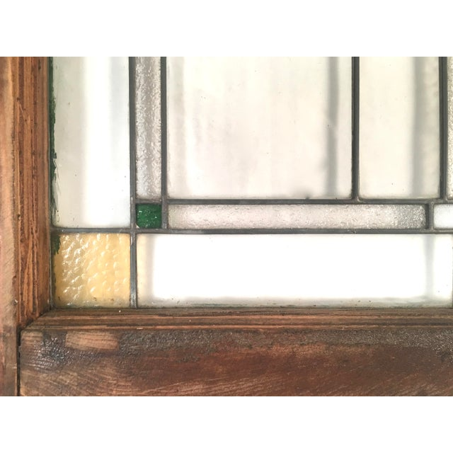1910s Prairie School Period Stained Glass Windows- A Pair For Sale - Image 5 of 8