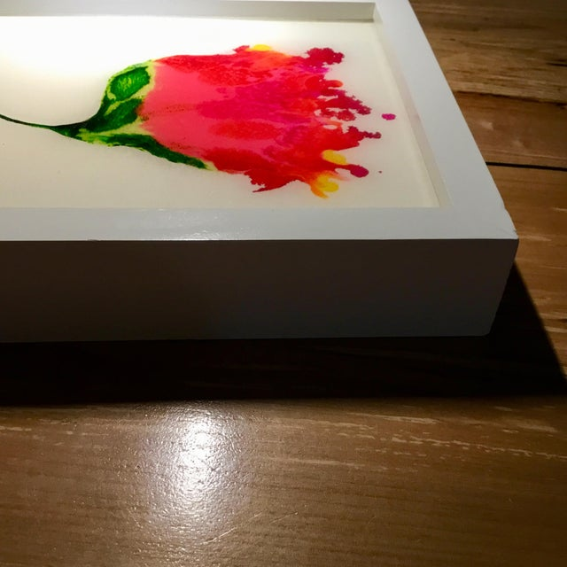 """Abstract Resin Botanical Framed 9x11"""" For Sale - Image 3 of 5"""