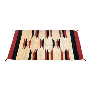 Vintage Mid-Century Native American Inspired Small Rug - 1′8″ × 3′4″ For Sale