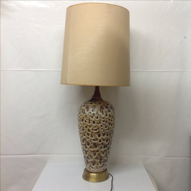 Huge Mocha Fat Lava Table Lamp - Image 2 of 5