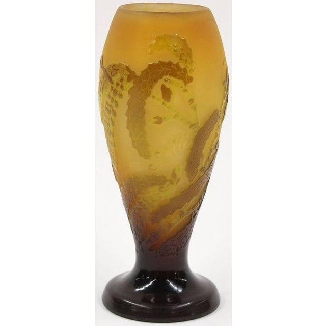 Early 20th Century Emile Galle Art Nouveau Cameo Glass Vase For Sale In San Francisco - Image 6 of 6