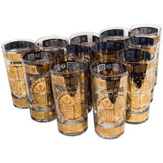 Vintage Drinks Glasses - Set of 12