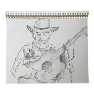 The Guitarist 1 - Drawing For Sale