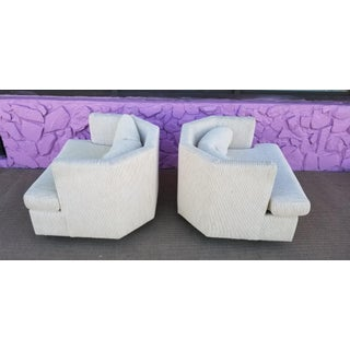 Vintage Geometric Back Swivel Chairs- a Pair Preview